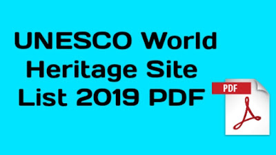 UNESCO World Heritage Site List PDF 2019
