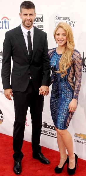 Foto de Shakira agarrada de la mano de Gerard Piqué