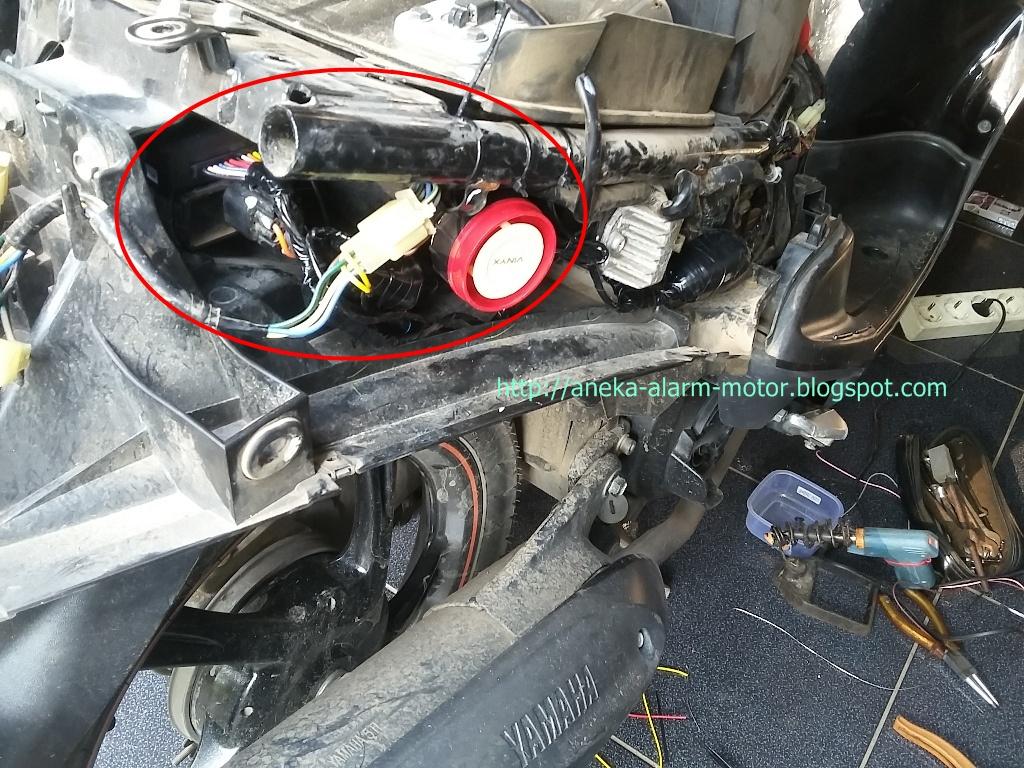 Aneka Alarm Motor  Cara Pasang Alarm Motor Remote Pada Yamaha Mio Sporty Karbu