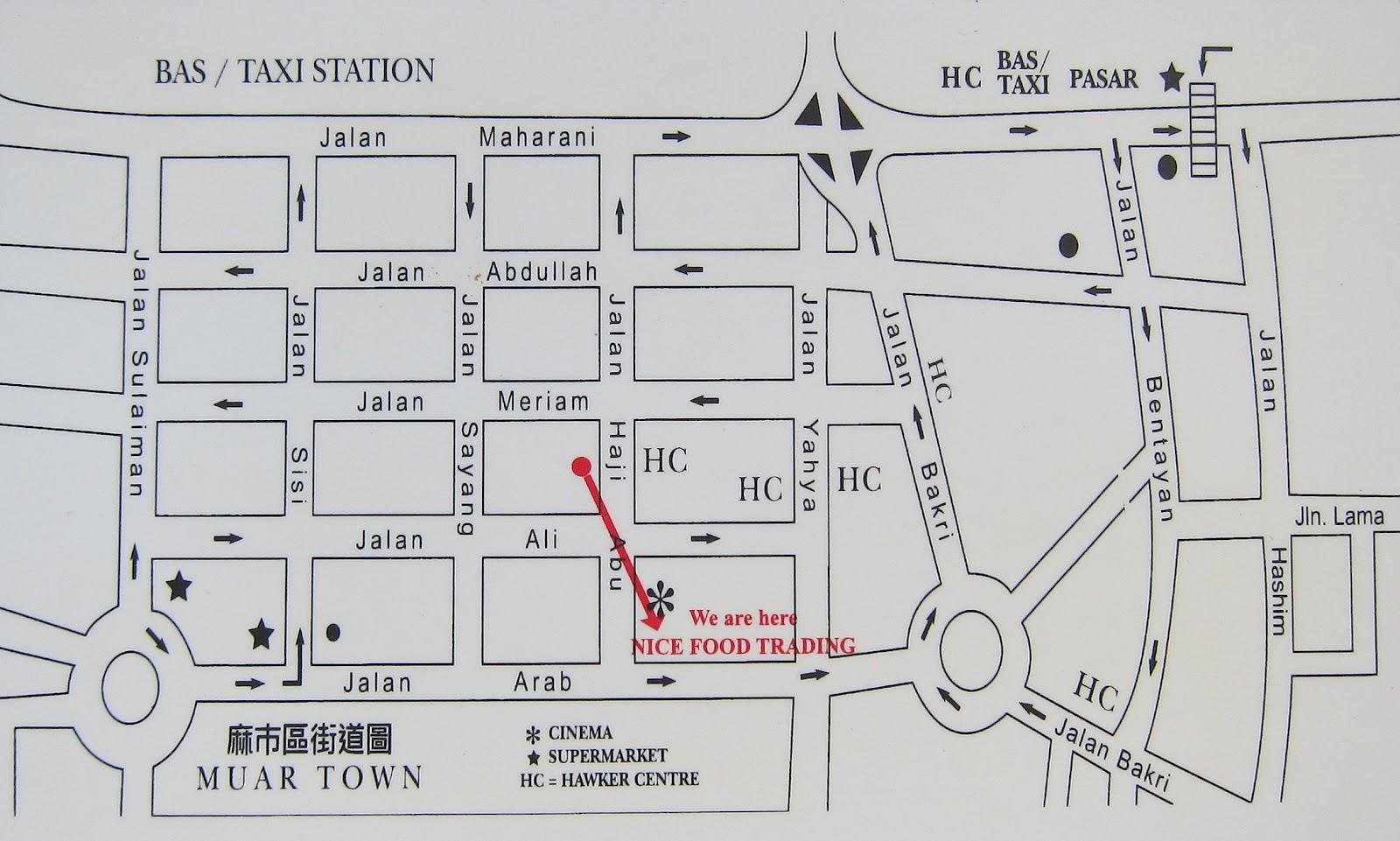 Muar glutton street in muar johor malaysia tony johor map of muar city centre sciox Choice Image