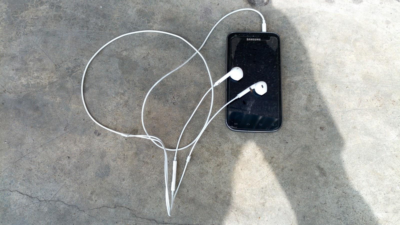 Image showing apple earphones