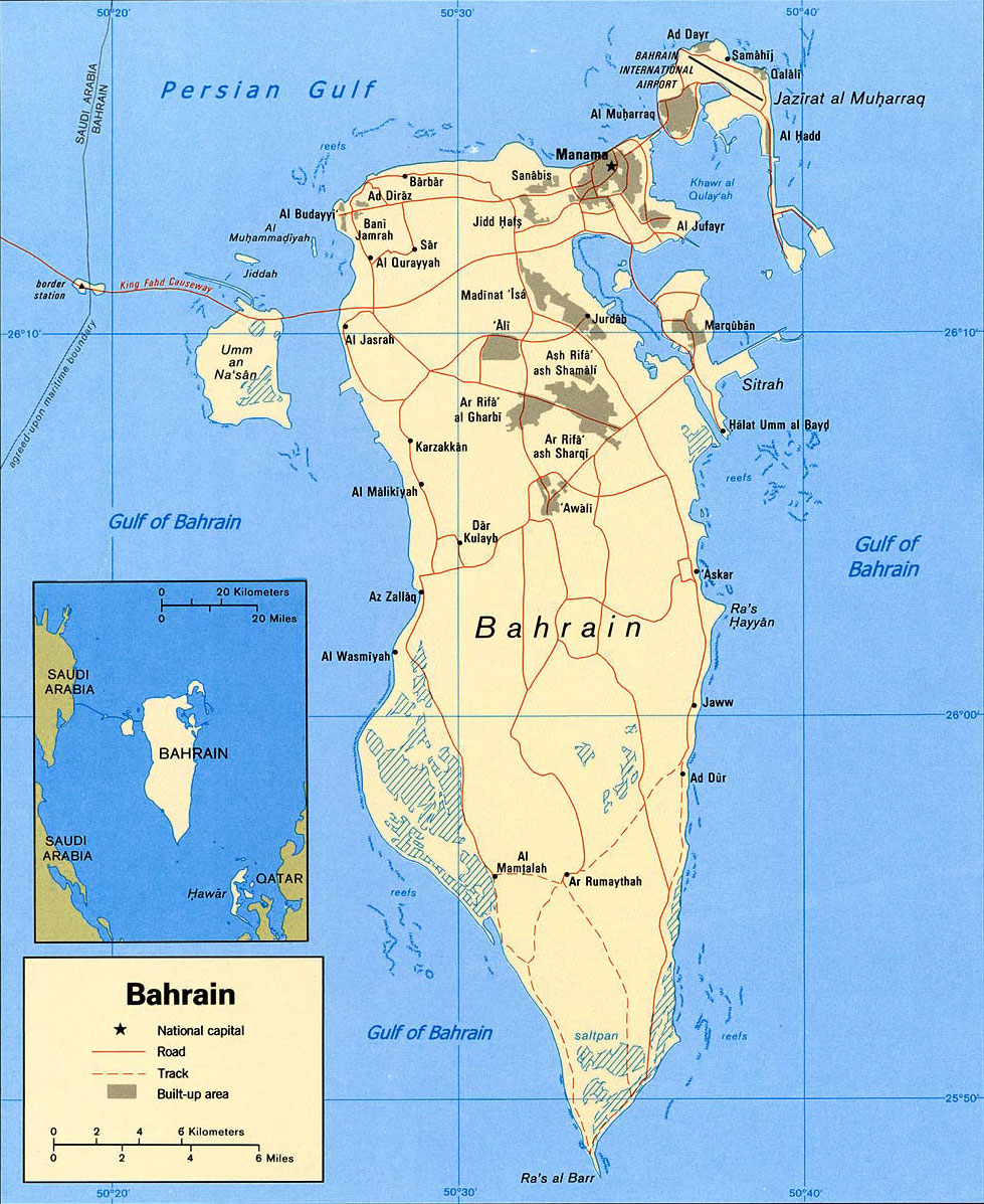 image: Bahrain Political Map