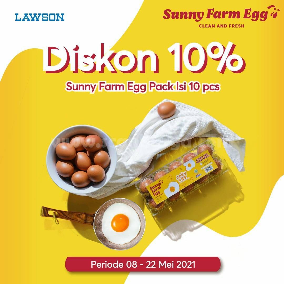 LAWSON Promo DISKON 10% untuk Sunny Farm Egg Pack Isi 10pcs