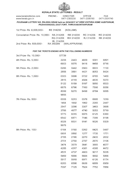 Kerala lottery result Official Copy_Pournami (RN-285) part 02