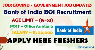 Bank of India BOI Recruitment 2021