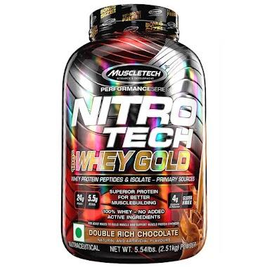 MuscleTech Nitrotech 100% Whey Gold, 5.54 lb