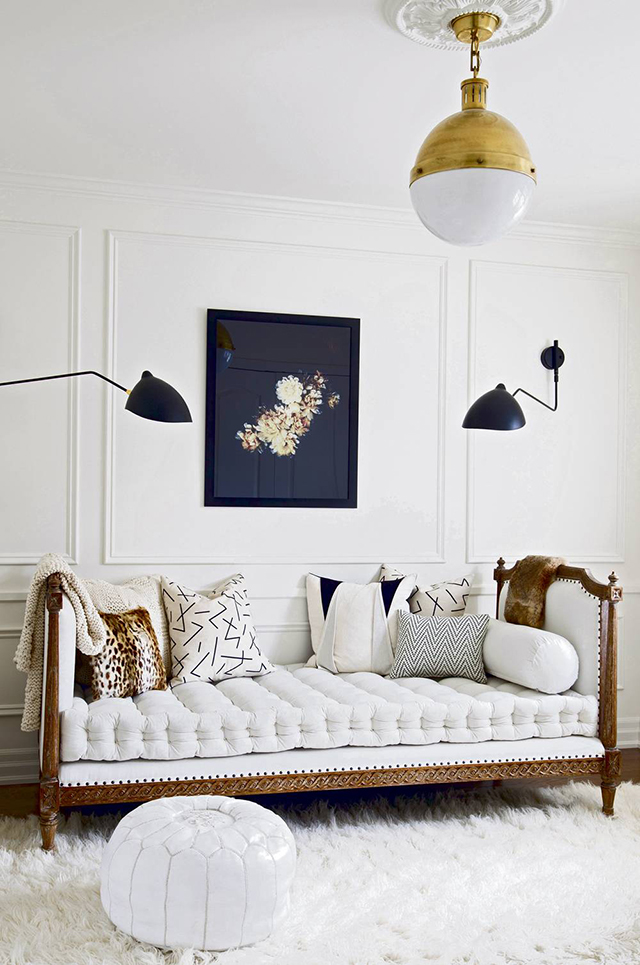 Pretty Little Details Inspiration Files // Beautiful white room designed by Christine Dovey
