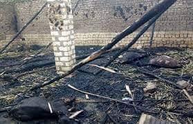 """اندلاع حريق بحوشين مواشى"""" دون خسائر بشرية بقرية الحلافي بالبلينا فى سوهاج"""