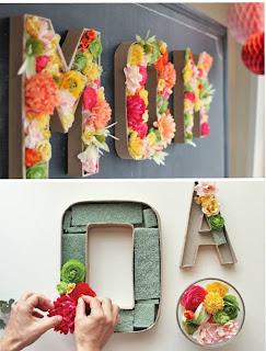 Kağıttan Çiçekli Harf Yapımı 2