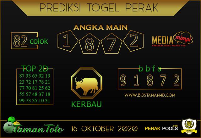 Prediksi Togel PERAK TAMAN TOTO 16 OKTOBER 2020