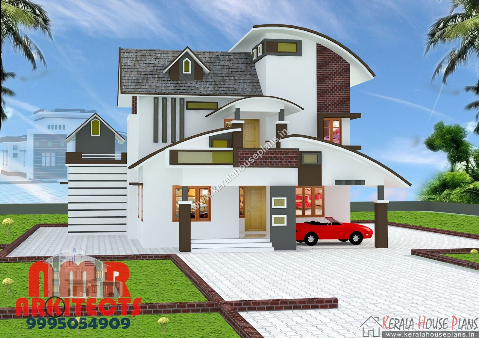 kerala mixed roof House plan