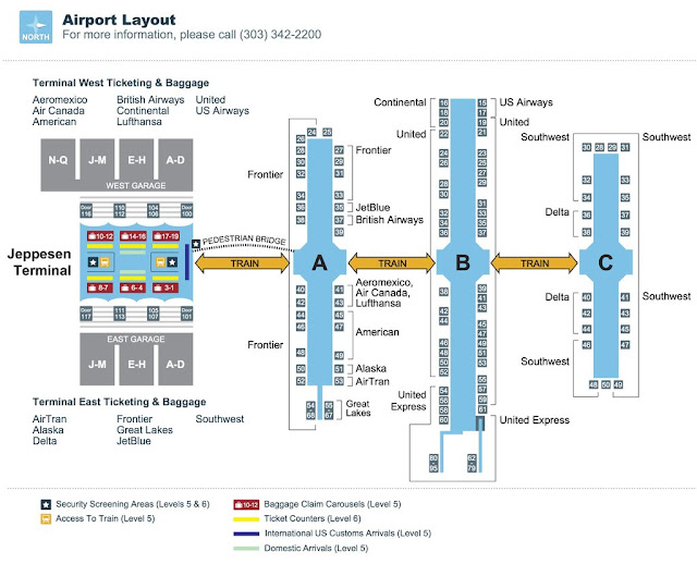 Denver International Airport Map by Mobile Maplets