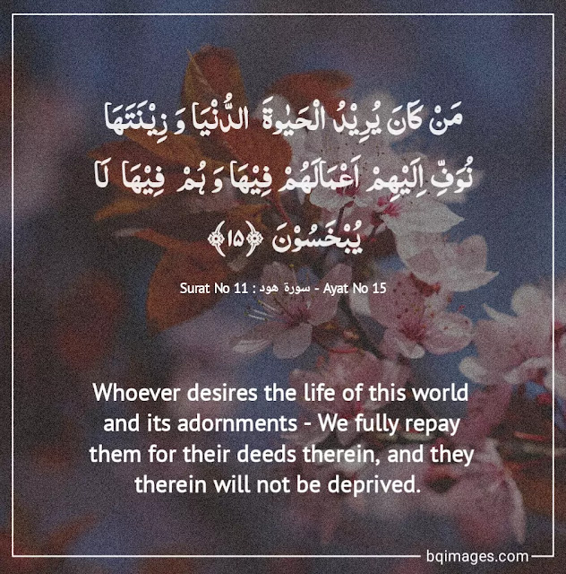 Quran verses About Life