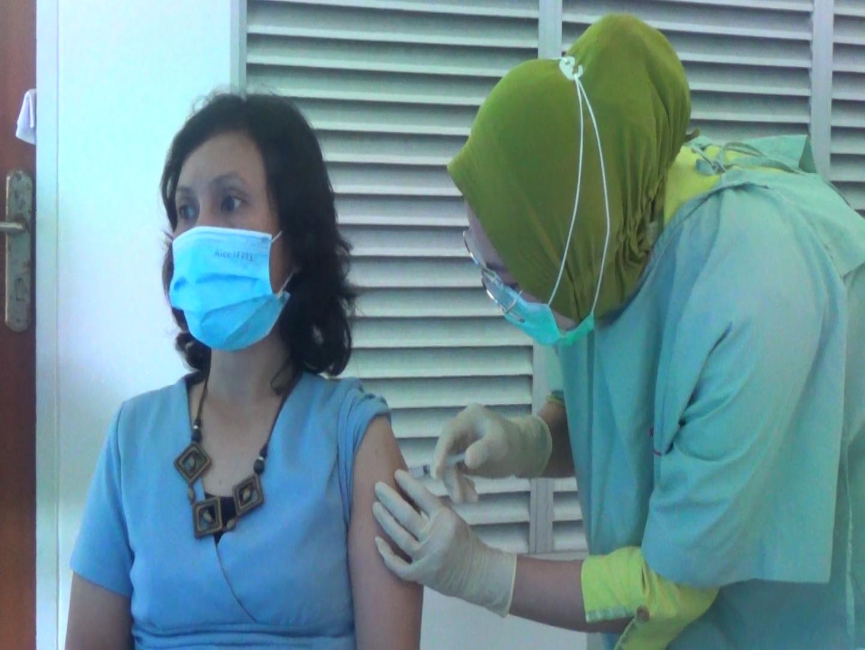 Putus Penyebaran Covid-19, Puluhan Pengurus SMSI Kota Batam Disuntik Vaksin Covid-19