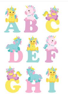 Abecedario de unicornios para imprimir