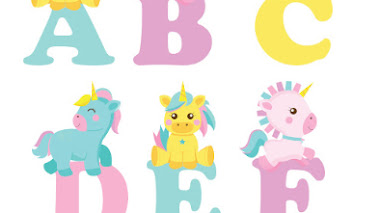 Abecedario de unicornios para imprimir 🦄