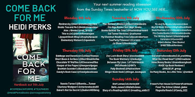 Come Back For Me by Heidi Perks blog tour banner