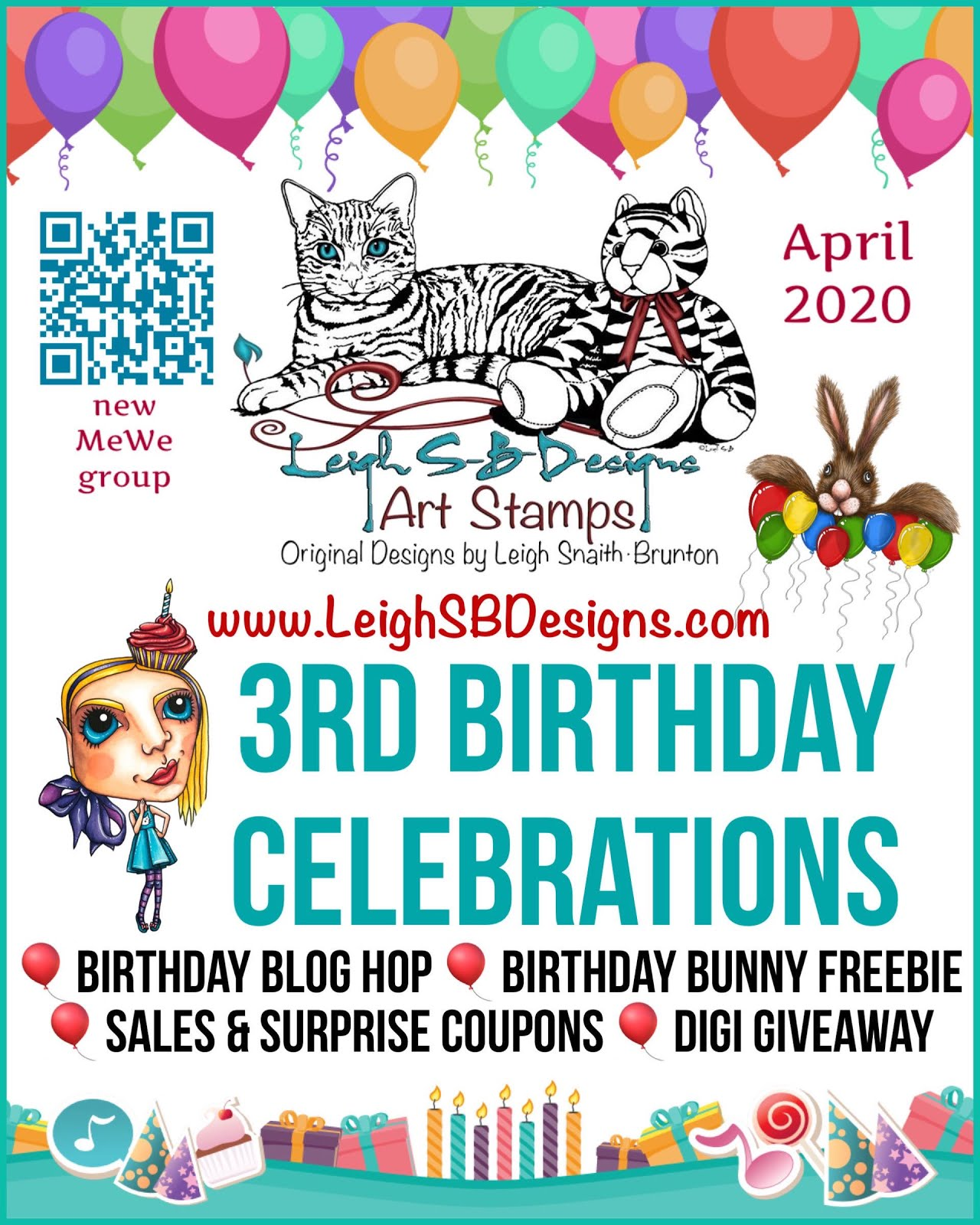 LeighSBDesigns 3rd Birthday Celebrations