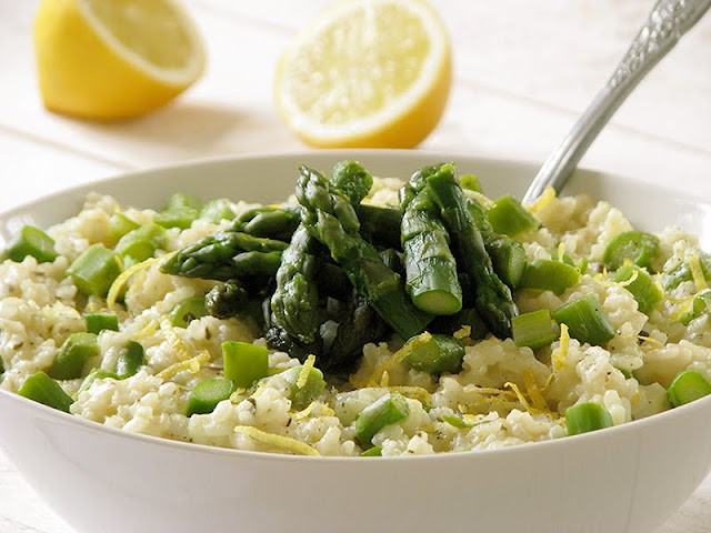 recette de risotto aux asperges vertes végétarien