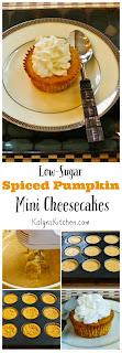 Low-Sugar Spiced Pumpkin Mini Cheescakes  [from KalynsKitchen.com]