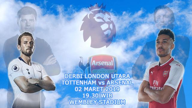 Prediksi Tepat Liga Inggris Antara Tottenham Hotspur vs Arsenal (2 Maret 2019)