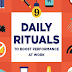 9 Daily Rituals To Boost Performance At Work #infographic