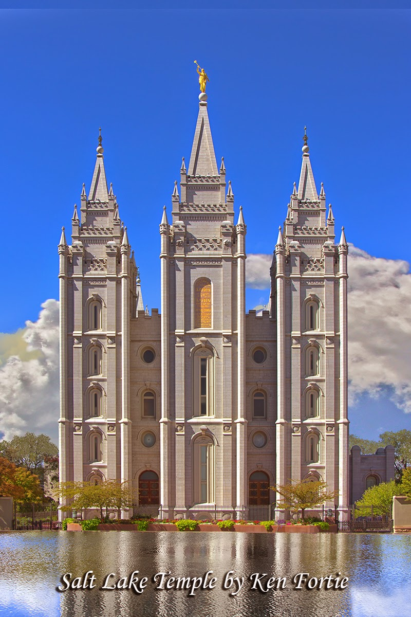 Temples By Ken Fortie Salt Lake Temple