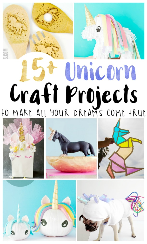 15+ of the best DIY unicorn crafts for kids, teens and adults. Lots of easy unicorn craft ideas from room decor to birthday decorations, halloween costumes and more! Includes free patterns and step by step tutorials.