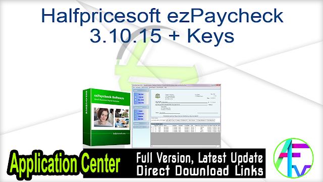Halfpricesoft ezPaycheck 3.10.15 + Keys