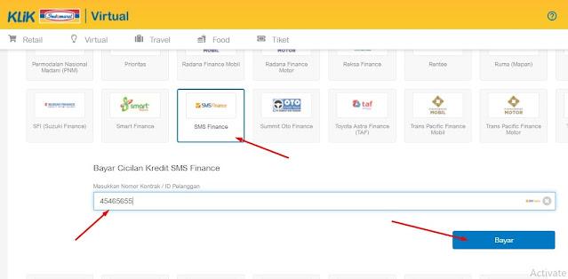 Cek angsuran sms finance secara online