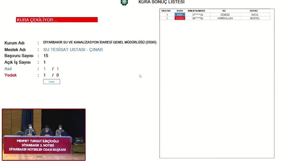 Çınar Diski Şubesinde çalışmaya hak kazanan adaylar belli oldu