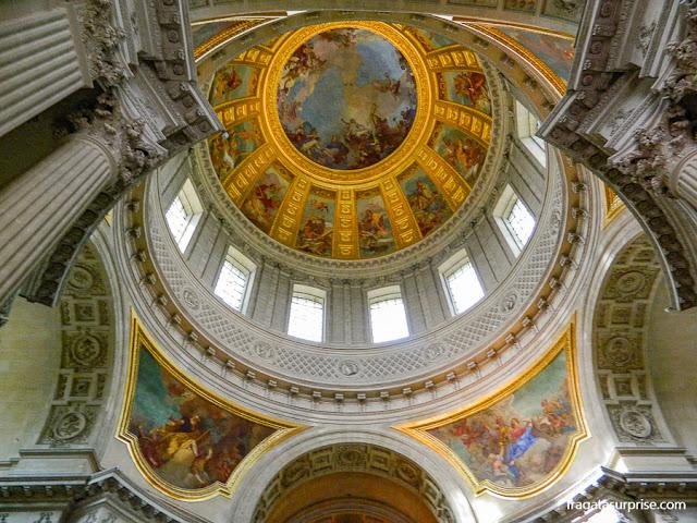 cúpula sobre o túmulo de Napoleão, Les Invalides, Paris