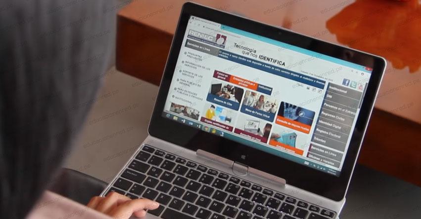 TRÁMITES DNI RENIEC: Paso a paso para renovar el Documento Nacional de Identidad a través de internet [VIDEO] www.reniec.gob.pe