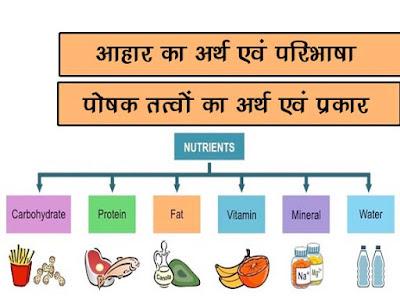 आहार: अर्थ एवं परिभाषा  पोषक तत्वों का अर्थ   Diet: Meaning and Definition