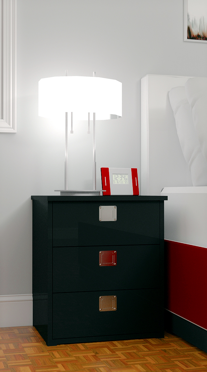 Simple contemporary black nightstand plans for Simple nightstand designs