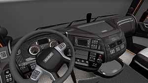 Alcantara and Leather interior for DAF Euro 6