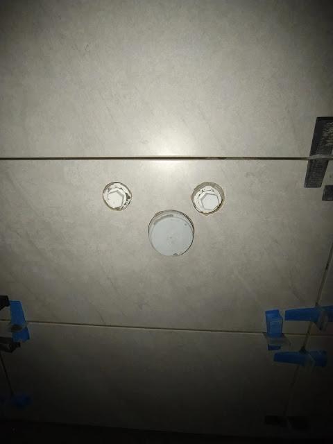 seramik kesimi işçiliği, panç ile seramiklerde tesisat deliği açılması