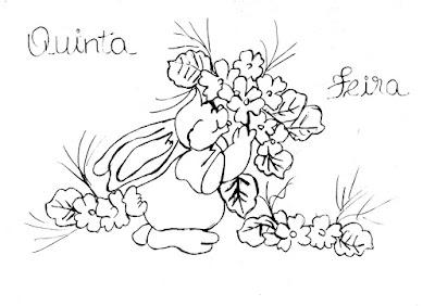 semaninha de coelhos e flores quinta feira