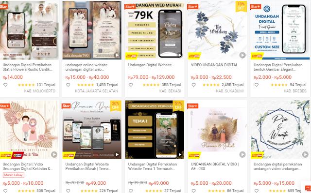 Harga Desain Video Undangan Pernikahan Digital