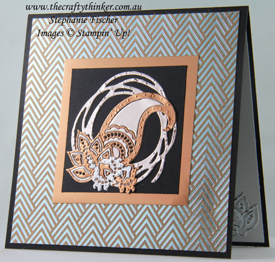 Swirly Scribbles, #cardmaking, #stampinup, Masculine Card, Metallics, Paisley, #thecraftythinker, Stampin Up Australia Demonstrator, Stephanie Fischer, Sydney NSW