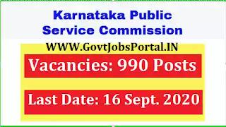 KPSC 990 AE, JE Recruitment 2020