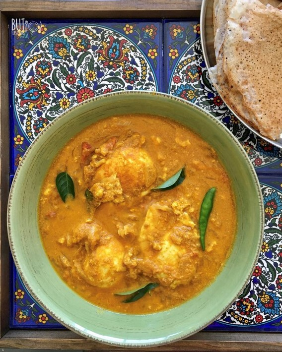 Poached Egg Curry in Coconut Sauce