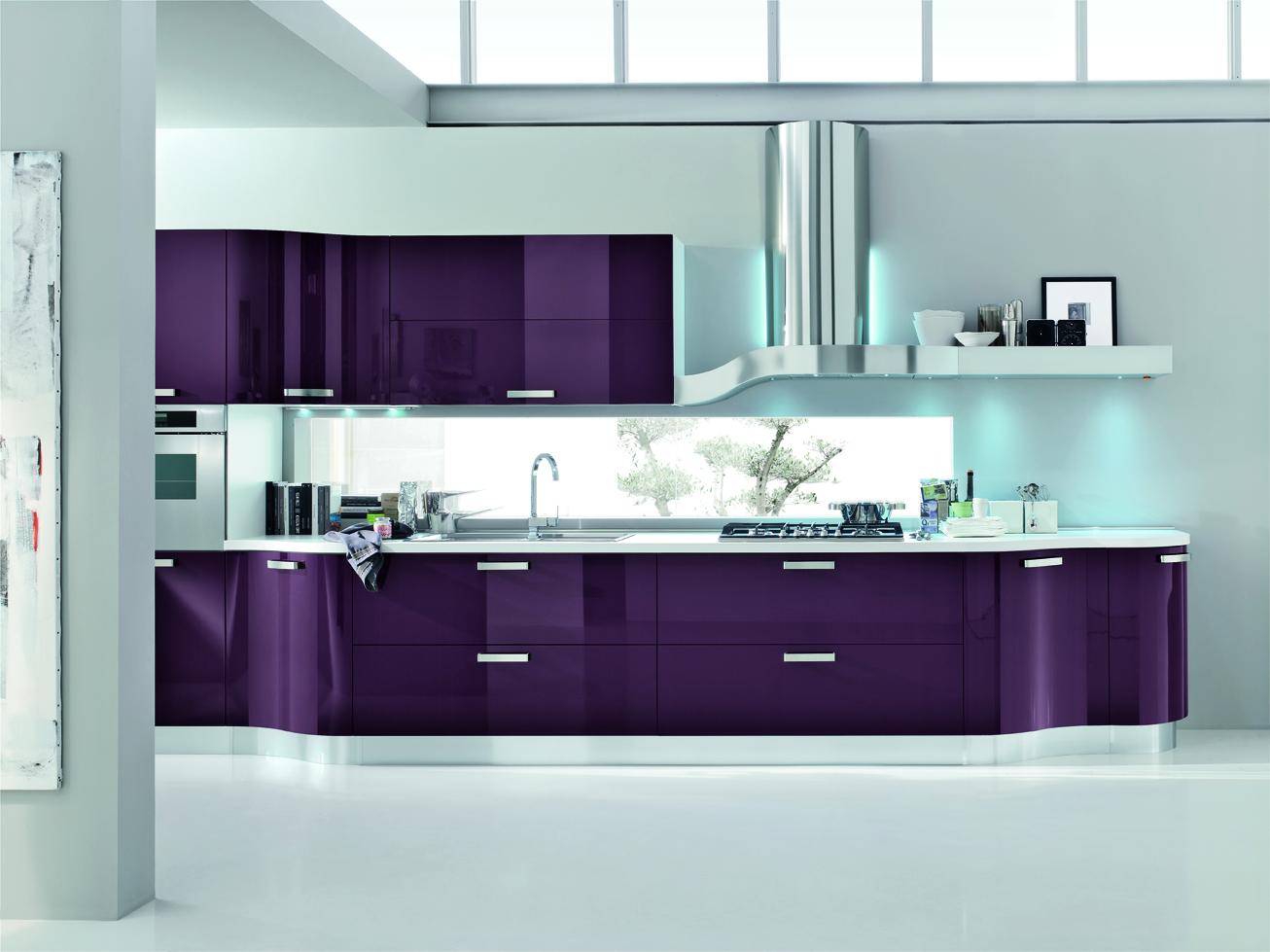 Cucina Moderna Elegante | Beautiful Cucina Grigio Rovere Pictures ...