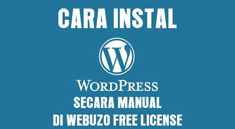 Cara Instal Wordpress Secara Manual di Webuzo Free Lisense