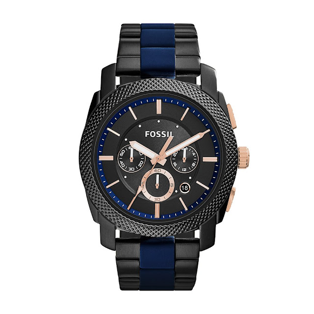 Fossil End-Of-Season Chronograph Black Dial Men's Watch