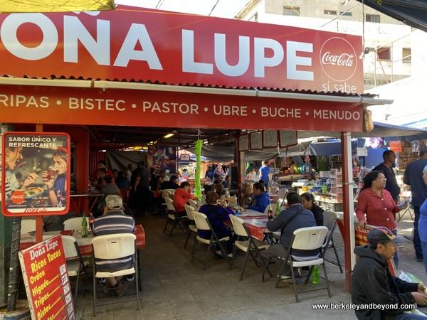 casual restaurant at El Mercado in Juarez, Mexico