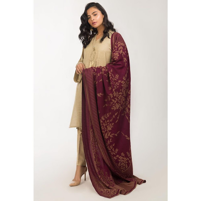 Ready to wear beige color viscose suit winter collection