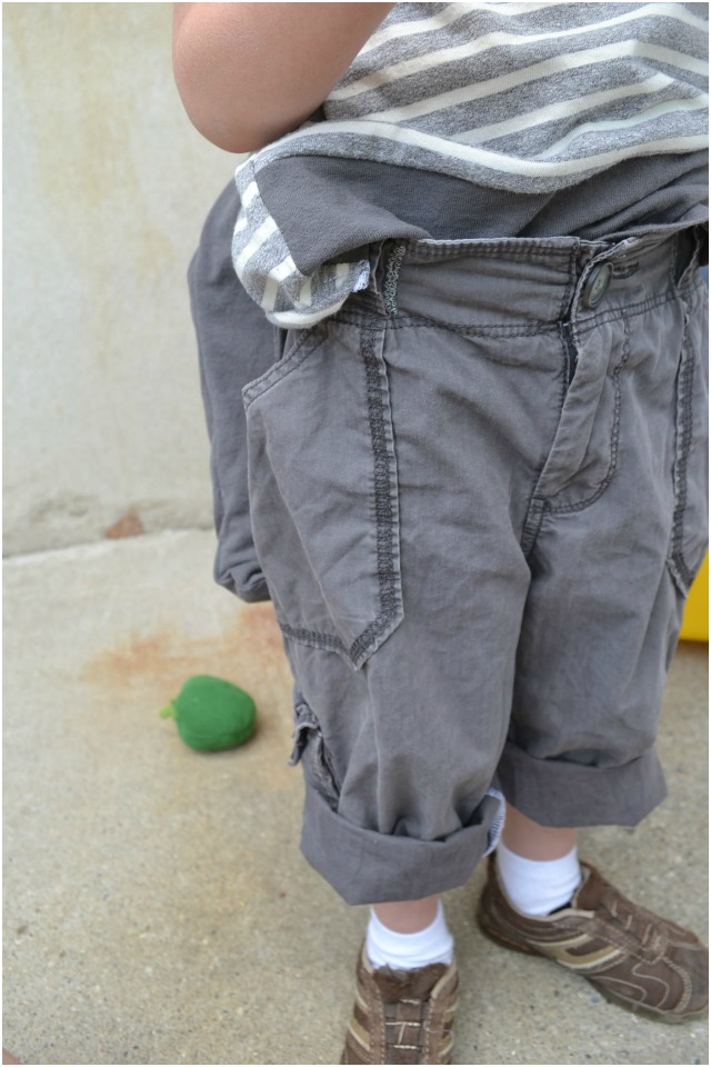 How to Upcycle: Cargo Pants to Little Boys Pants // DIY Sew