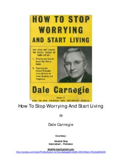 How to Stop Worrying and Start Living in pdf