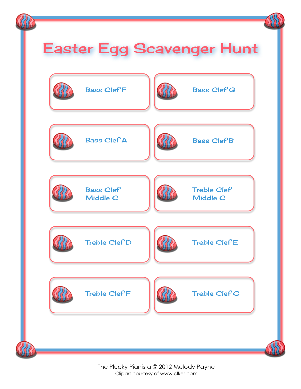 Easter Egg Scavenger Hunt